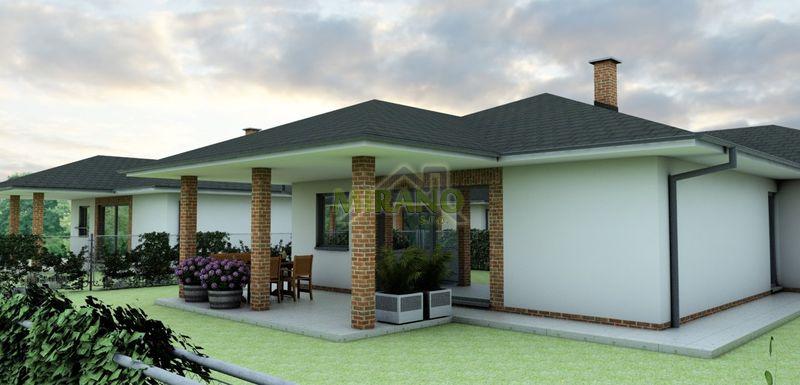 bungalov s garážou a terasou