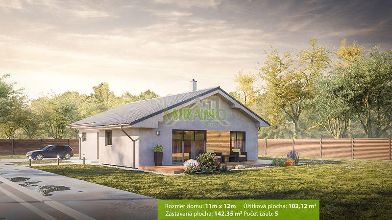 projekt montovaného domu so šikmou strechou - bungalov 49