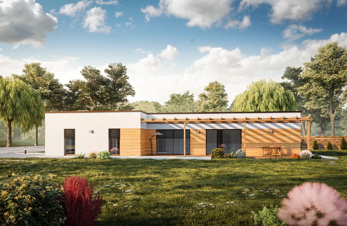 dom s plochou strechou